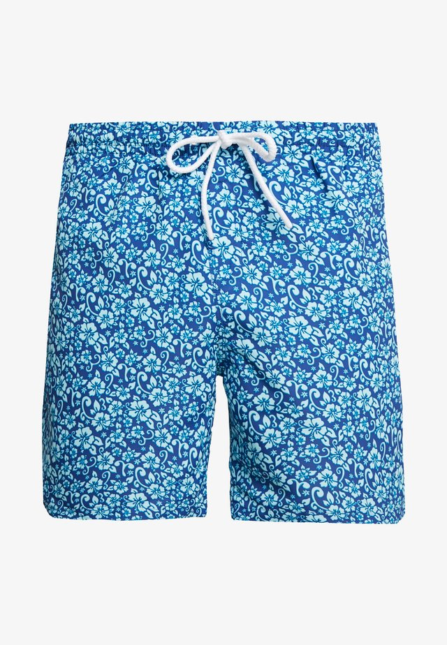 FLORAL SWIM SHORTS - Surfshorts - navy