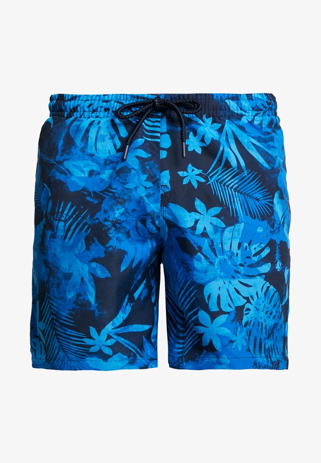 PATTERN SWIM SHORTS - Badeshorts - black