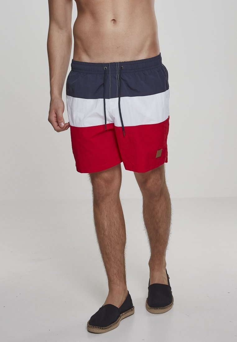Urban Classics - Swimming shorts - firered/navy/white