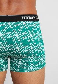 Urban Classics - CHRISTMAS NORWEGIAN BOXER 3PACK - Culotte - black/white/x-masgreen/black/x-masred/black - 2