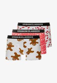 Urban Classics - CHRISTMAS FUN BOXER 3PACK - Culotte - white/x-masred/white - 3