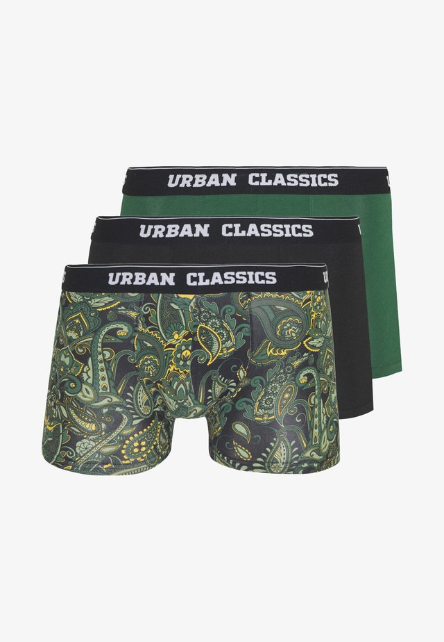 SHORTS 3 PACK - Pants - dark green / black