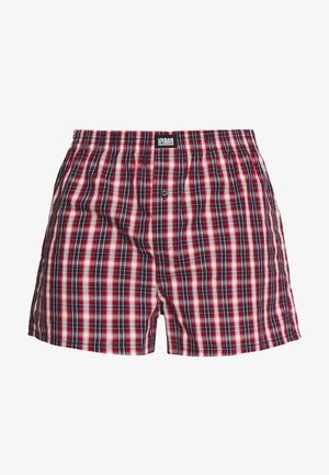 PLAID - Boxershort - red/navy