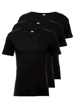 SEAMLESS TEE 3 PACK - Hemd - black