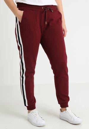LADIES COLLEGE CONTRAST - Pantalones deportivos - port/white/black