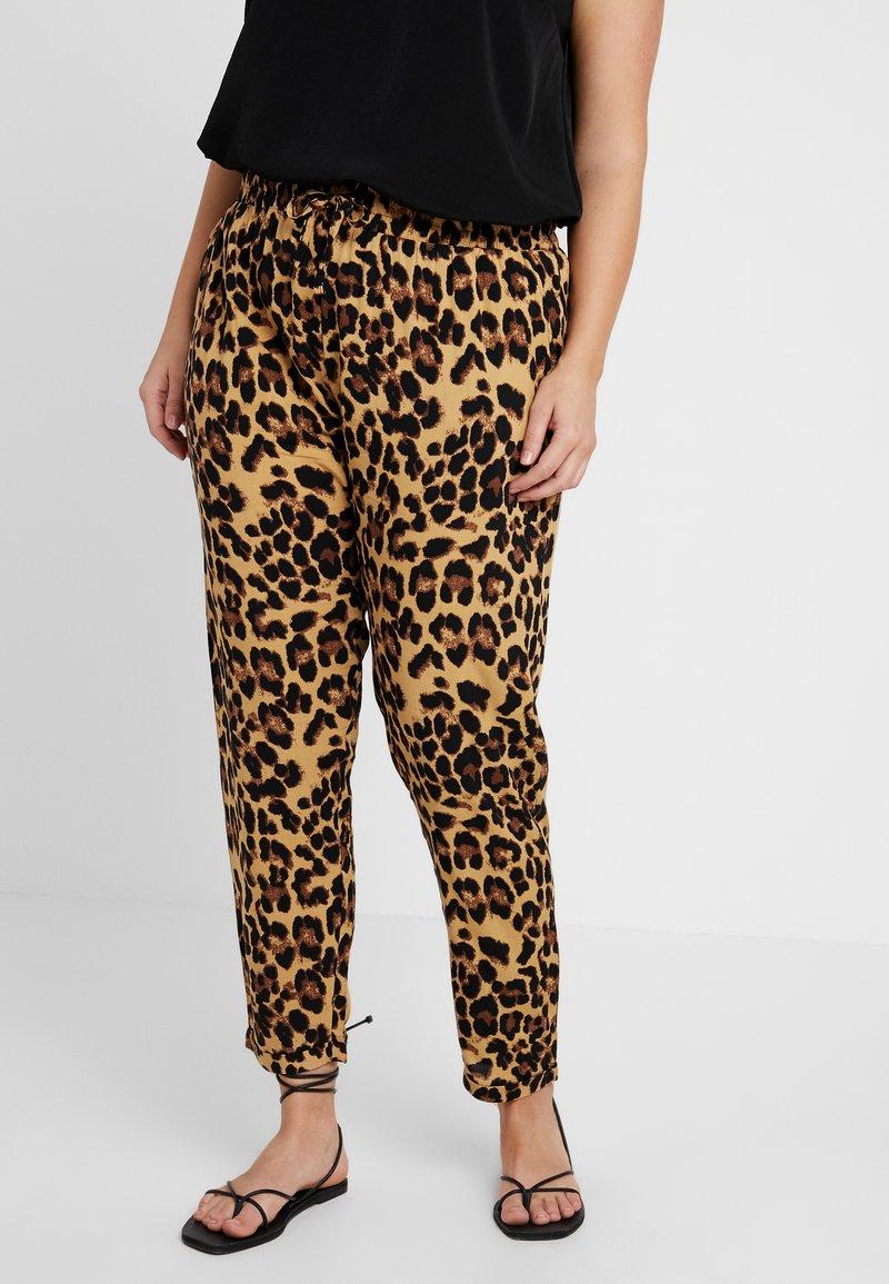 Urban Classics Curvy - LADIES ELASTIC WAIST PANTS - Trousers - multi-coloured
