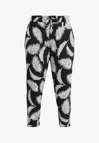 Urban Classics Curvy - LADIES ELASTIC WAIST PANTS - Trousers - black - 4