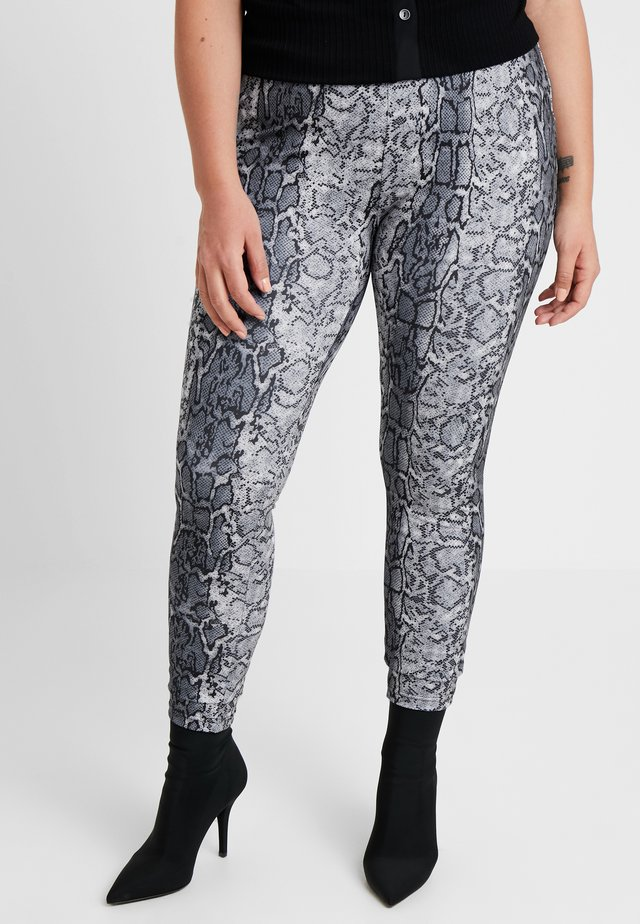 LADIES HIGH WAIST - Leggings - Trousers - grey
