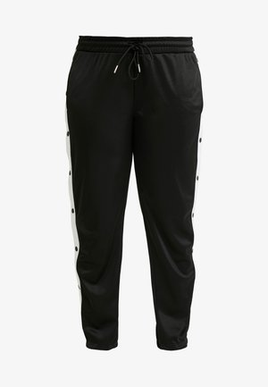 LADIES BUTTON UP TRACK PANTS - Spodnie treningowe - black