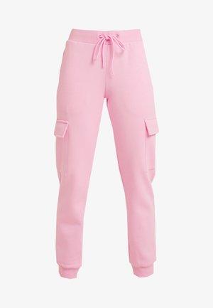 LADIES CARGO PANTS - Teplákové kalhoty - pink