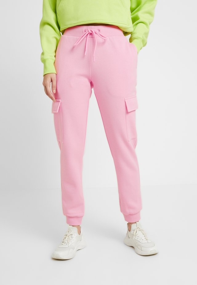 LADIES CARGO PANTS - Tracksuit bottoms - pink