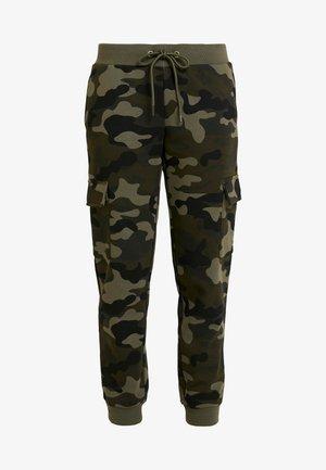 LADIES CARGO PANTS - Pantalon de survêtement - woodcamo/black
