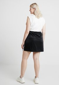 Urban Classics Curvy - LADIES TRACK SKIRT - A-line skirt - black/white - 2