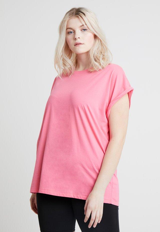 LADIES EXTENDED SHOULDER TEE - T-shirt basic - pinkgrapefruit