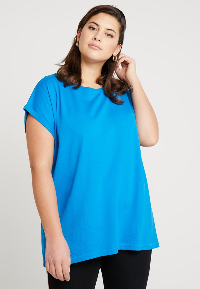 LADIES EXTENDED SHOULDER TEE - Basic T-shirt - hawaiianblue