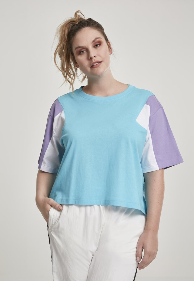 3-TONE SHORT - T-shirt imprimé - blue/purple