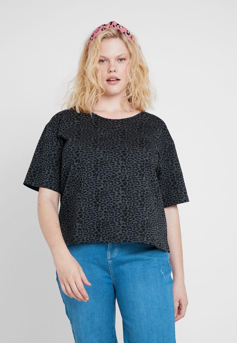 Urban Classics Curvy - LADIES TEE - T-Shirt print - charcoal