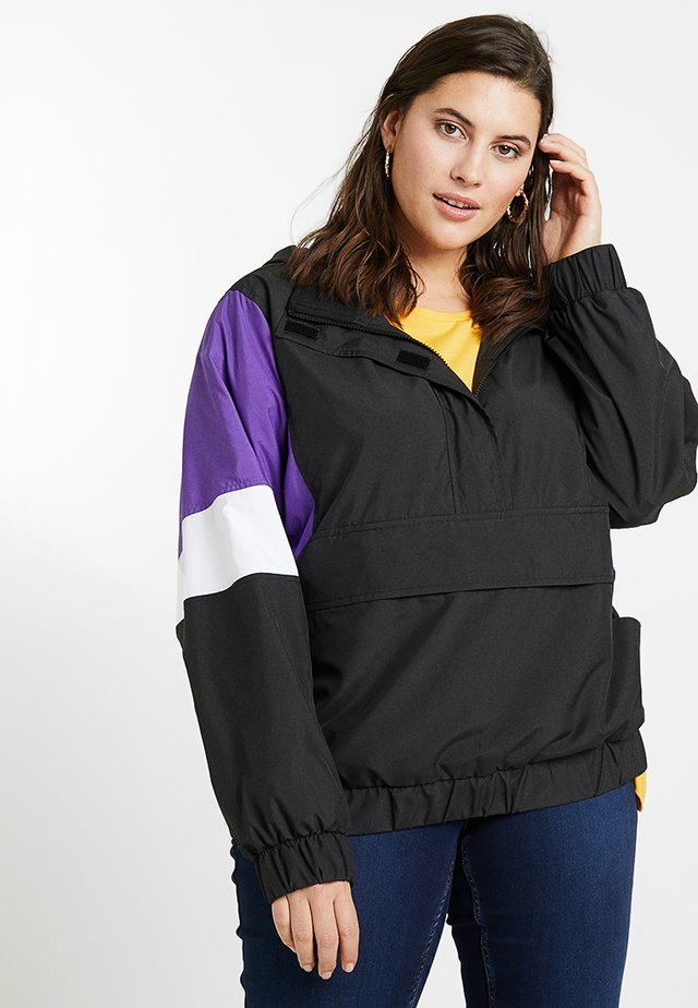 LADIES LIGHT JACKET - Summer jacket - black/ultraviolet/white