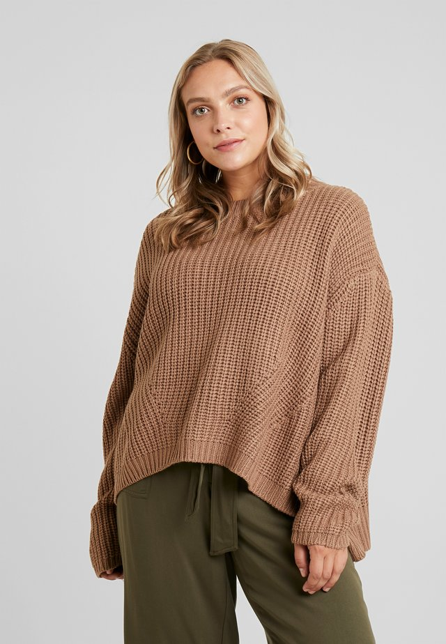 LADIES WIDE OVERSIZE - Jumper - taupe