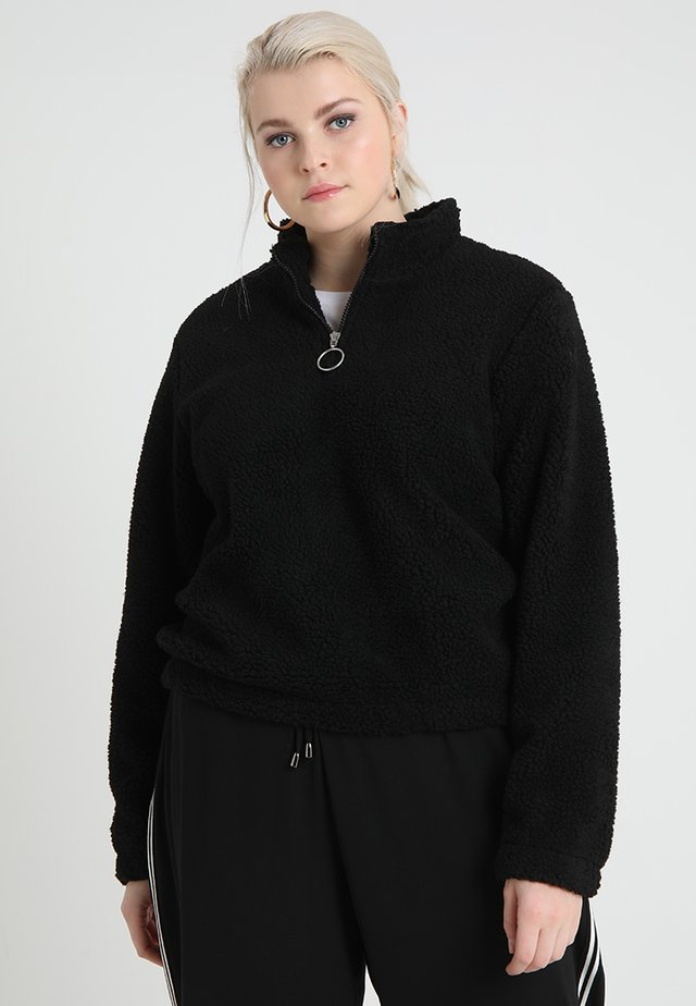 LADIES SHERPA BATWING TROYER - Sweat polaire - black