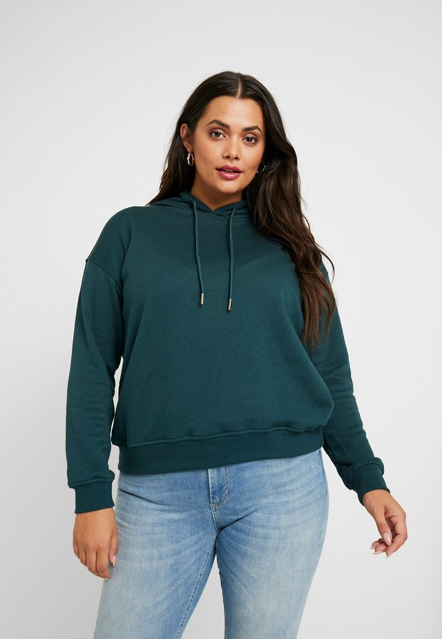 LADIES HOODY - Hoodie - bottlegreen