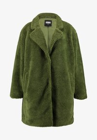 Urban Classics Curvy - LADIES OVERSIZED SHERPA COAT - Zimní kabát - olive - 4