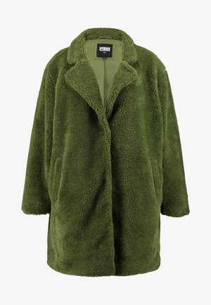 LADIES OVERSIZED SHERPA COAT - Winterjas - olive
