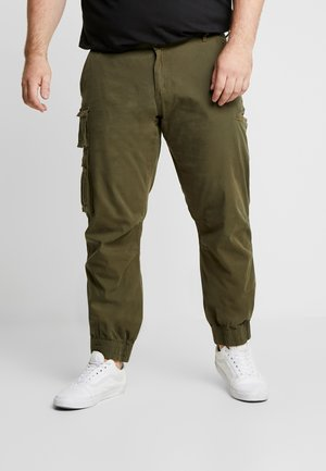 USKARLO PANTS - Cargo trousers - dark olive