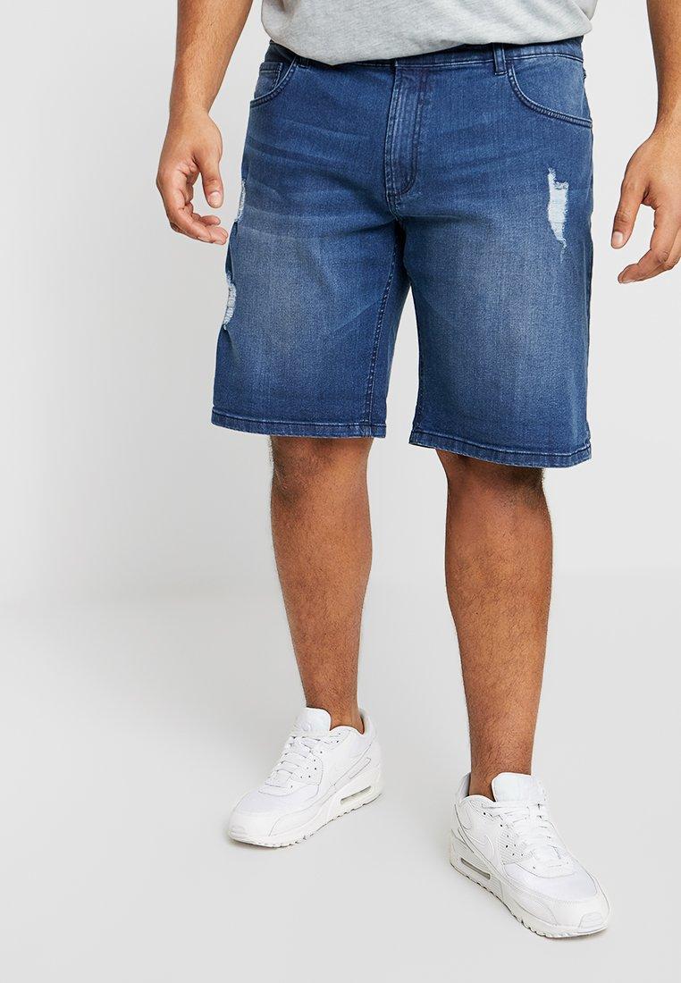 URBN SAINT - OLSSON  - Szorty jeansowe - ocean blue