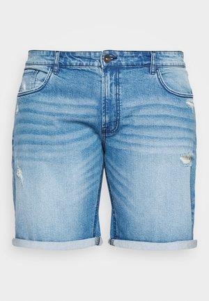 USOLOSSON DESTROY - Denim shorts - soft blue