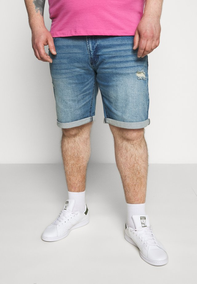 USOLOSSON DESTROY - Jeansshorts - soft blue