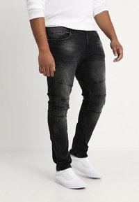 URBN SAINT - KYOTO WORKER - Džíny Slim Fit - black - 0