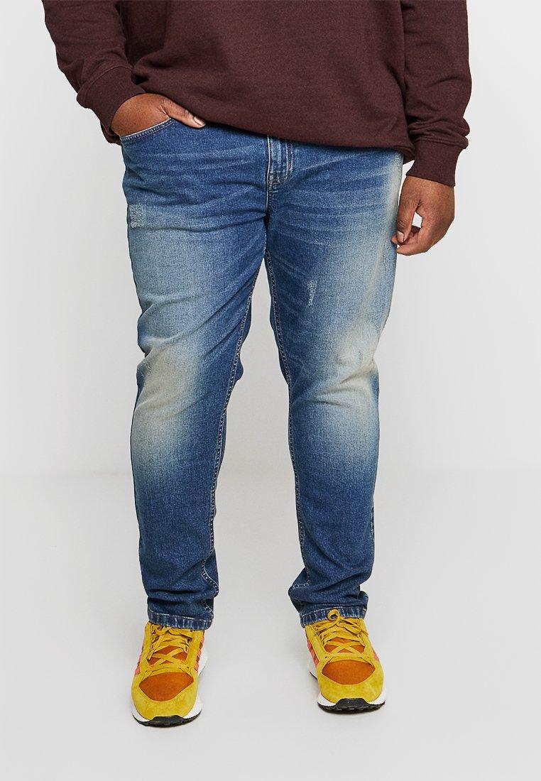 URBN SAINT - BERLIN DESTROY - Slim fit jeans - dusty blue