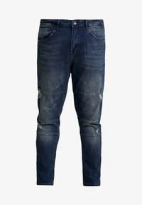 URBN SAINT - USGENEVE CUT DESTROY - Slim fit -farkut - malgony blue
