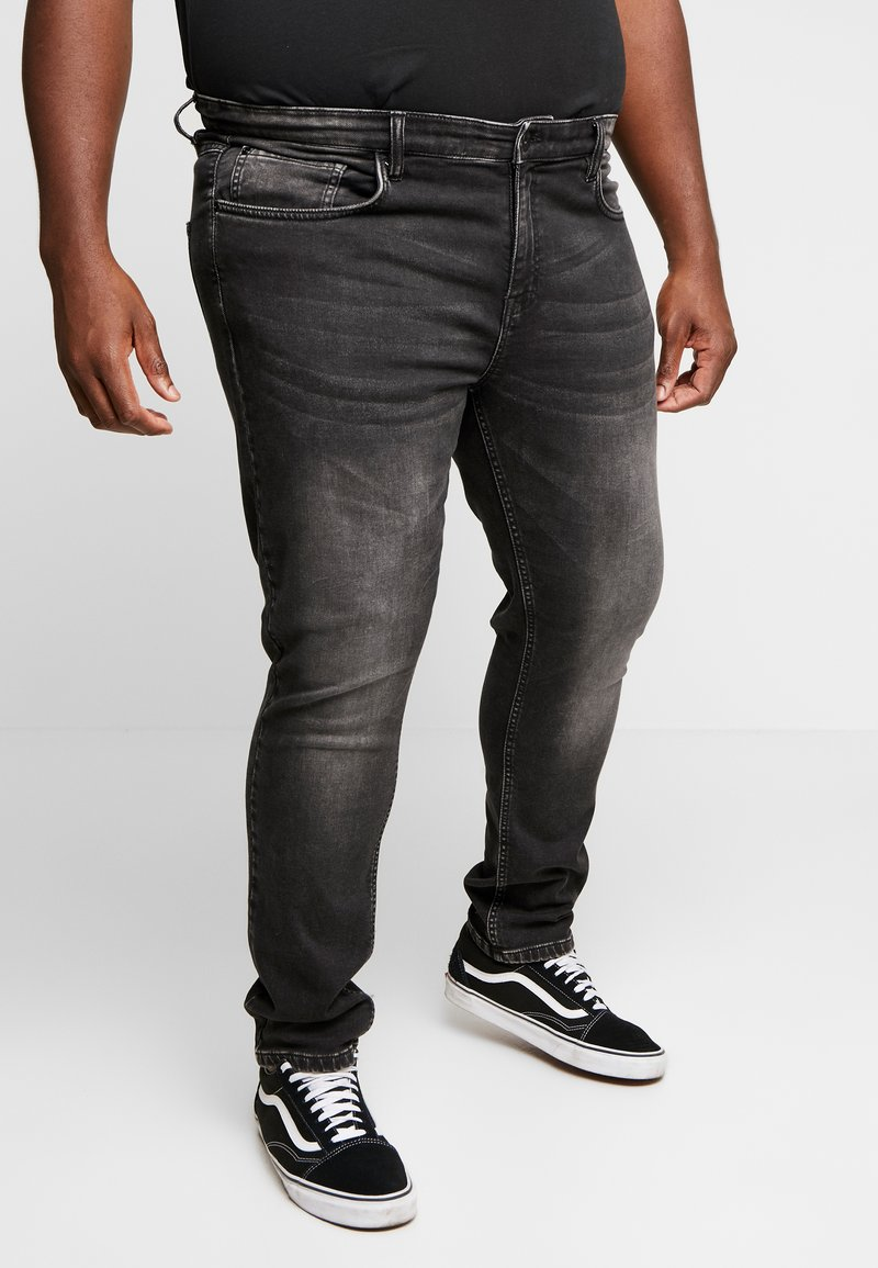 URBN SAINT - USGENEVE TERRY - Jeans slim fit - light grey