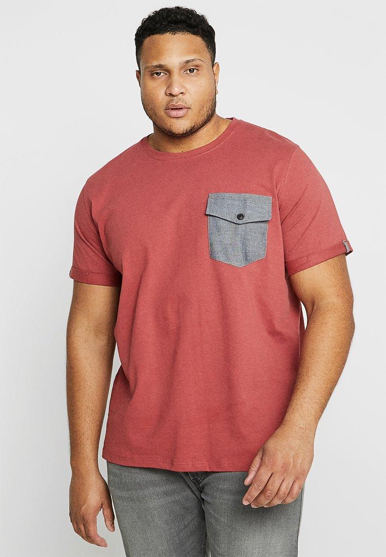 URBN SAINT - FLUSH TEE - Basic T-shirt - marsala