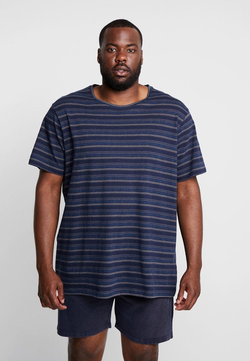URBN SAINT - MARIUS TEE - T-shirt imprimé - navy