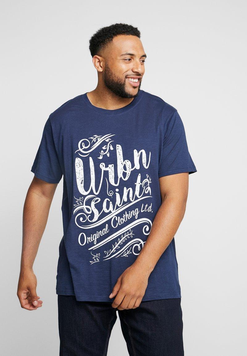 URBN SAINT - ZACK TEE - T-shirts print - navy