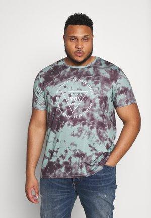 USTHOME TEE - Print T-shirt - granite green