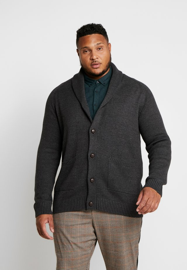 USPIER KNIT - Kofta - antracit grey