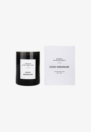 LUXURY BOXED GLASS CANDLE - Duftlys - oudh geranium