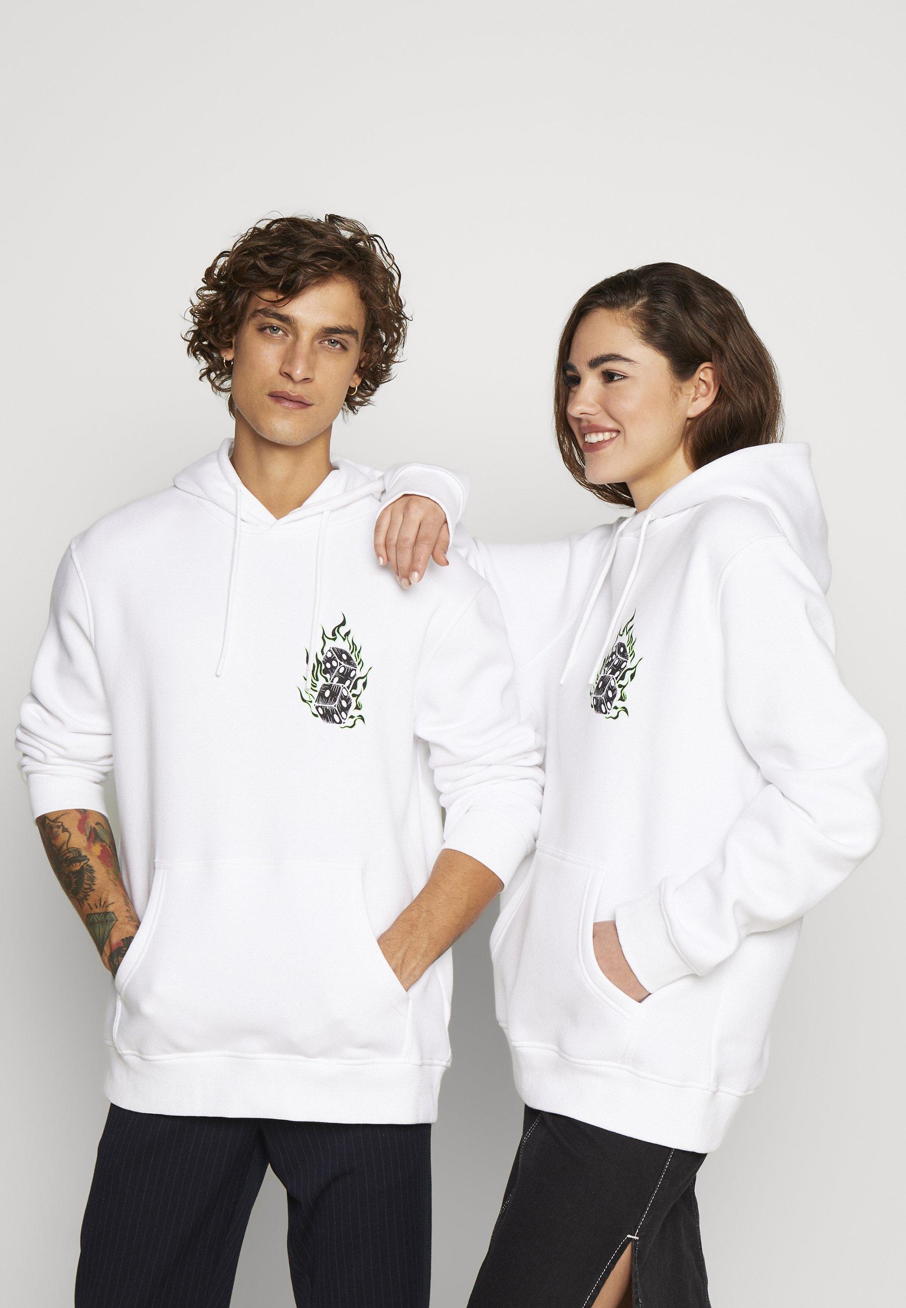Urban Threads FRONT GRAPHIC HOODY - Bluza z kapturem - white