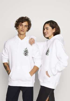 FRONT GRAPHIC HOODY - Hoodie - white