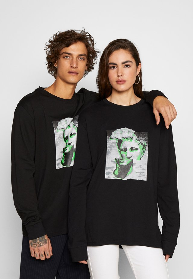 FRONT & BACK GRAPHIC LONG SLEEVE UNISEX - T-shirts med print - black