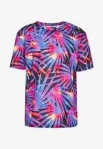 PALM LEAF COLOURED PRINTED TEE  - T-shirt z nadrukiem - purple