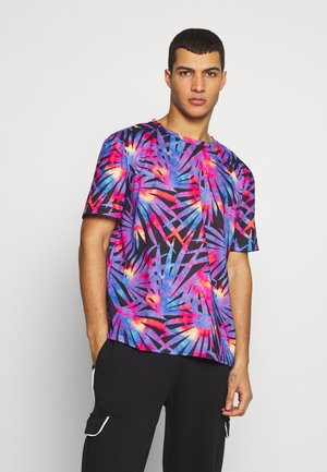 PALM LEAF COLOURED PRINTED TEE  - Camiseta estampada - purple