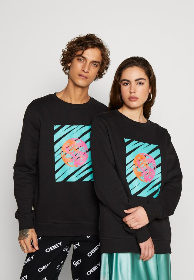 FRONT & BACK GRAPHIC UNISEX  - Felpa - black