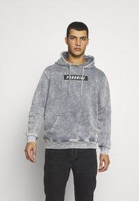 Urban Threads - ACID WASH HOODY  UNISEX - Sweatshirt - grey - 0