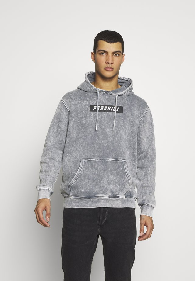 ACID WASH HOODY  UNISEX - Felpa - grey