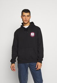 Urban Threads - FRONT BACK GRAPHIC HOODY - Mikina skapucí - black - 0